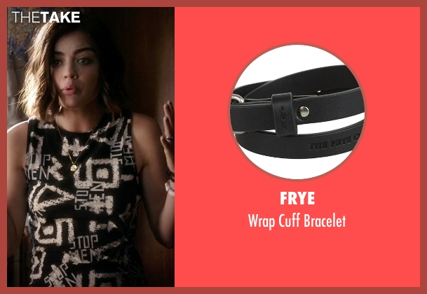 Frye black bracelet from Pretty Little Liars seen with Aria Montgomery (Lucy Hale)