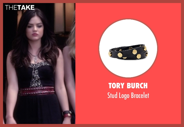Tory Burch black bracelet from Pretty Little Liars seen with Aria Montgomery (Lucy Hale)