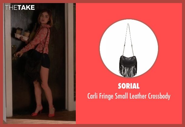 Sorial black crossbody from Pretty Little Liars seen with Aria Montgomery (Lucy Hale)