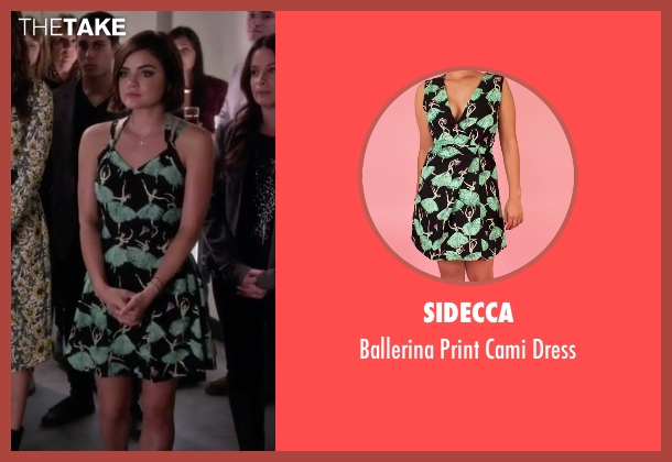 Sidecca black dress from Pretty Little Liars seen with Aria Montgomery (Lucy Hale)