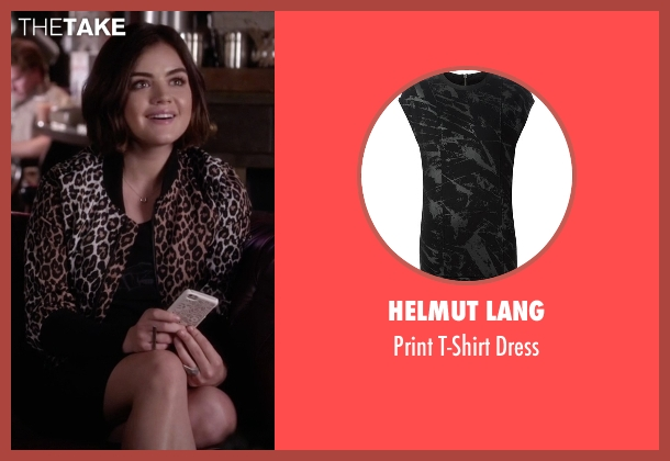 Helmut Lang black dress from Pretty Little Liars seen with Aria Montgomery (Lucy Hale)