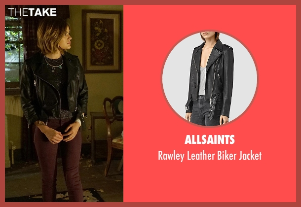 AllSaints black jacket from Pretty Little Liars seen with Aria Montgomery (Lucy Hale)