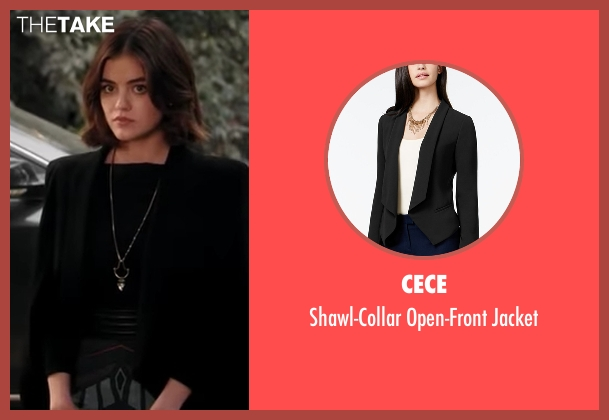 CeCe black jacket from Pretty Little Liars seen with Aria Montgomery (Lucy Hale)