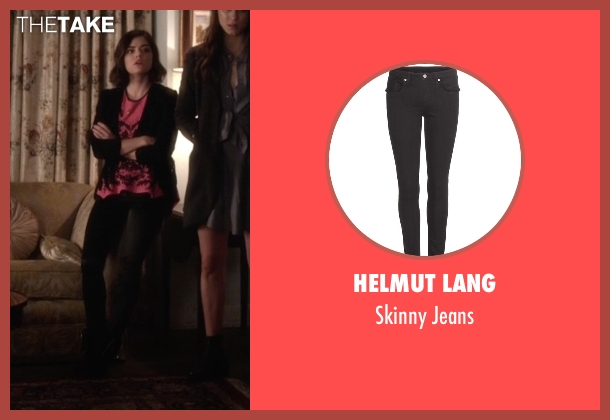 Helmut Lang black jeans from Pretty Little Liars seen with Aria Montgomery (Lucy Hale)