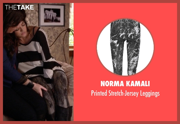 Norma Kamali black leggings from Pretty Little Liars seen with Aria Montgomery (Lucy Hale)