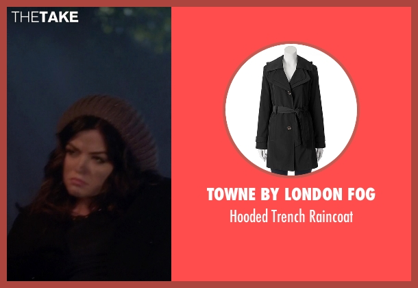 Towne By London Fog black raincoat from Pretty Little Liars seen with Aria Montgomery (Lucy Hale)