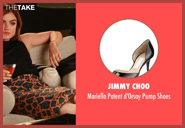Jimmy Choo black shoes from Pretty Little Liars seen with Aria Montgomery (Lucy Hale)