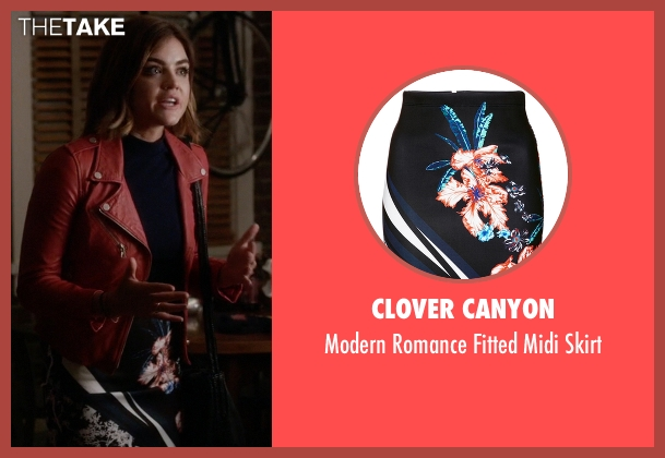 Clover Canyon black skirt from Pretty Little Liars seen with Aria Montgomery (Lucy Hale)