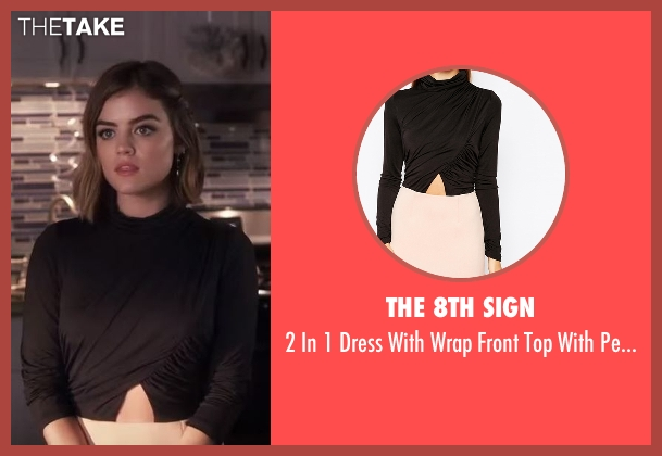 The 8th Sign  black skirt from Pretty Little Liars seen with Aria Montgomery (Lucy Hale)