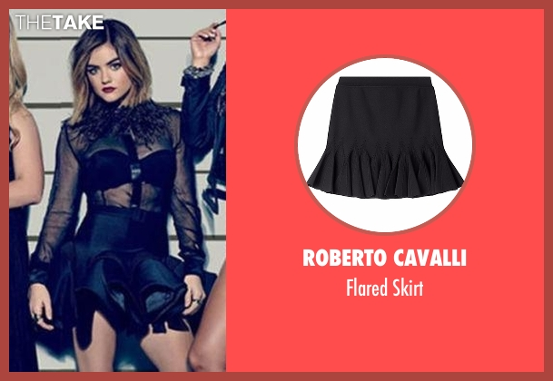 Roberto Cavalli black skirt from Pretty Little Liars seen with Aria Montgomery (Lucy Hale)