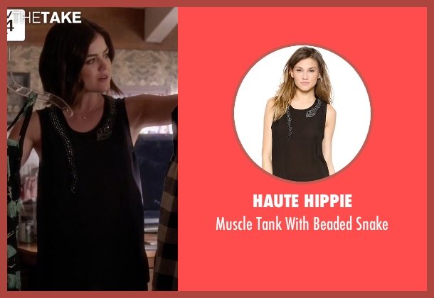 Haute Hippie black snake from Pretty Little Liars seen with Aria Montgomery (Lucy Hale)