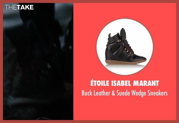 ÉToile Isabel Marant black sneakers from Pretty Little Liars seen with Aria Montgomery (Lucy Hale)