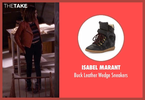 Isabel Marant  black sneakers from Pretty Little Liars seen with Aria Montgomery (Lucy Hale)
