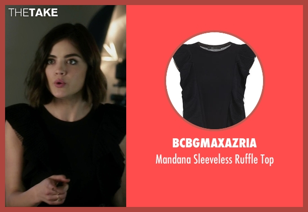 BCBGMAXAZRIA black top from Pretty Little Liars seen with Aria Montgomery (Lucy Hale)