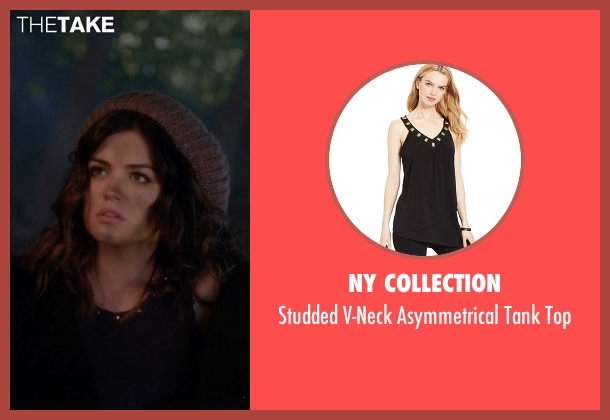 NY Collection black top from Pretty Little Liars seen with Aria Montgomery (Lucy Hale)