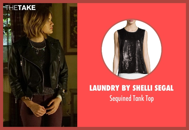 Laundry by Shelli Segal black top from Pretty Little Liars seen with Aria Montgomery (Lucy Hale)