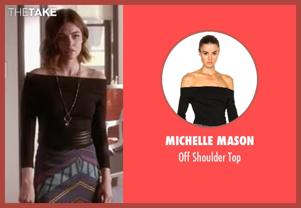 Michelle Mason black top from Pretty Little Liars seen with Aria Montgomery (Lucy Hale)