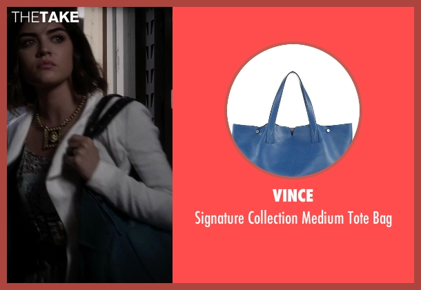 Vince blue bag from Pretty Little Liars seen with Aria Montgomery (Lucy Hale)