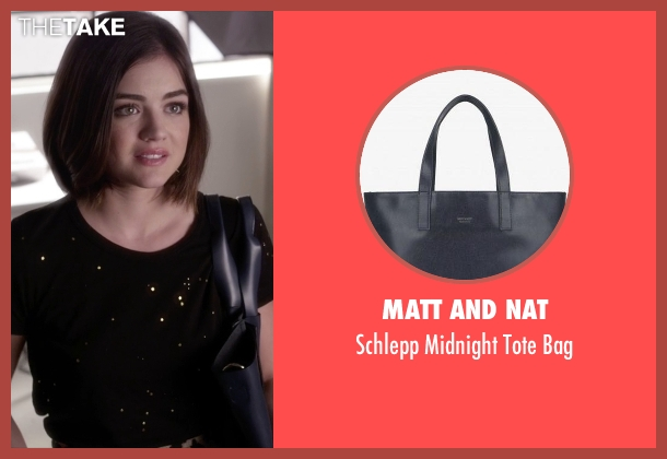 Matt And Nat blue bag from Pretty Little Liars seen with Aria Montgomery (Lucy Hale)