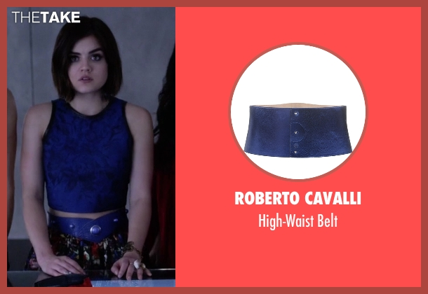 Roberto Cavalli blue belt from Pretty Little Liars seen with Aria Montgomery (Lucy Hale)
