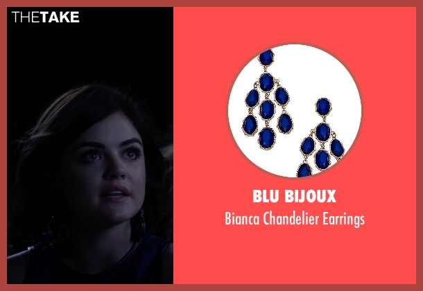 Blu Bijoux blue earrings from Pretty Little Liars seen with Aria Montgomery (Lucy Hale)