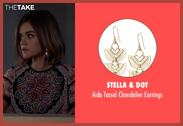 Stella & Dot blue earrings from Pretty Little Liars seen with Aria Montgomery (Lucy Hale)