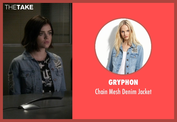 Gryphon blue jacket from Pretty Little Liars seen with Aria Montgomery (Lucy Hale)