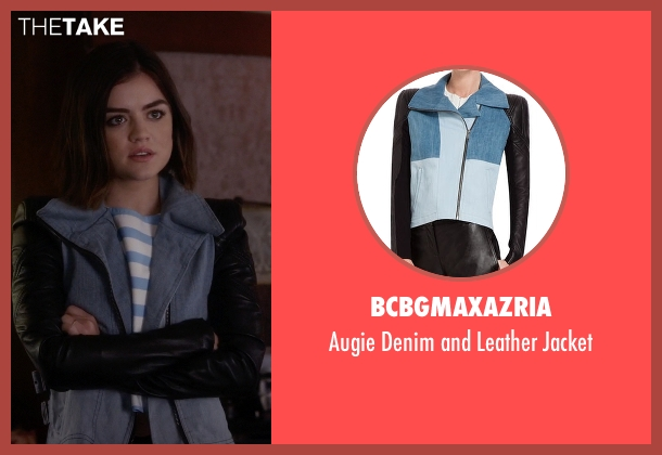 BCBGMAXAZRIA blue jacket from Pretty Little Liars seen with Aria Montgomery (Lucy Hale)