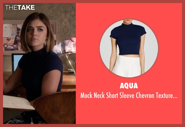 Aqua blue top from Pretty Little Liars seen with Aria Montgomery (Lucy Hale)