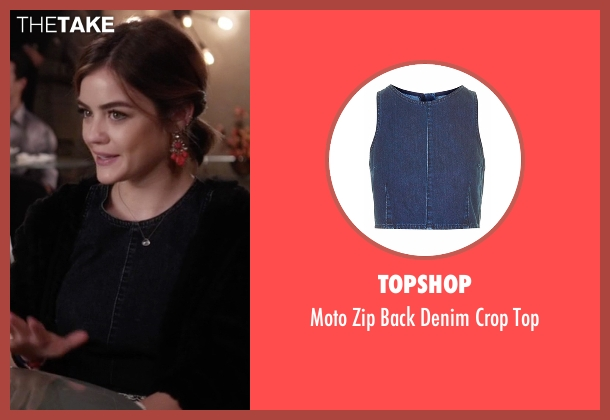 Topshop blue top from Pretty Little Liars seen with Aria Montgomery (Lucy Hale)