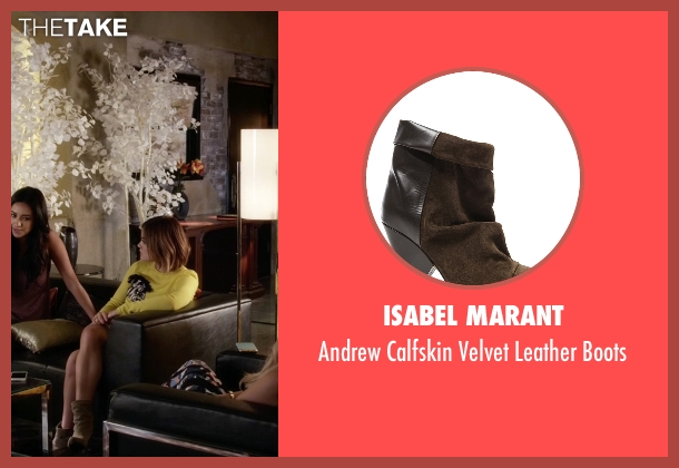 Isabel Marant brown boots from Pretty Little Liars seen with Aria Montgomery (Lucy Hale)