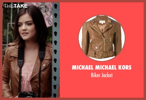 Michael Michael Kors brown jacket from Pretty Little Liars seen with Aria Montgomery (Lucy Hale)