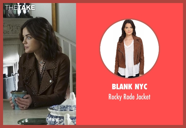 Blank NYC brown jacket from Pretty Little Liars seen with Aria Montgomery (Lucy Hale)