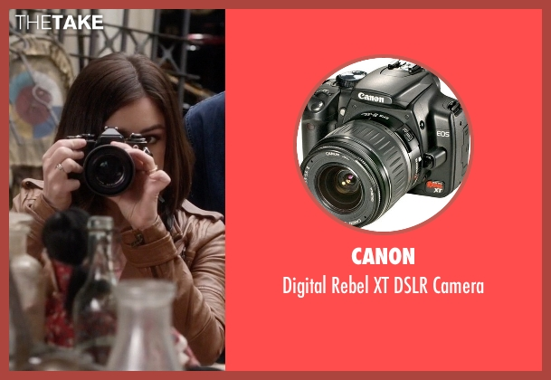 Canon camera from Pretty Little Liars seen with Aria Montgomery (Lucy Hale)