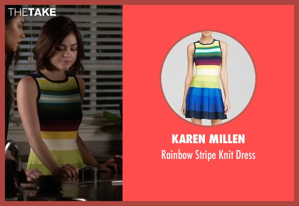 Karen Millen dress from Pretty Little Liars seen with Aria Montgomery (Lucy Hale)