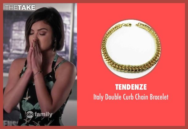 Tendenze gold bracelet from Pretty Little Liars seen with Aria Montgomery (Lucy Hale)