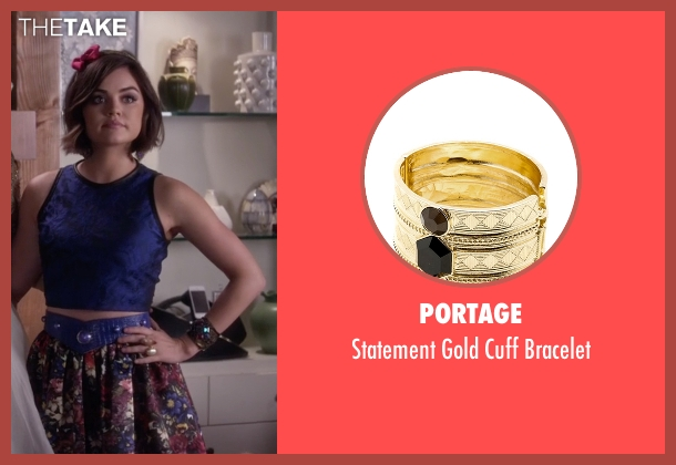 Portage gold bracelet from Pretty Little Liars seen with Aria Montgomery (Lucy Hale)