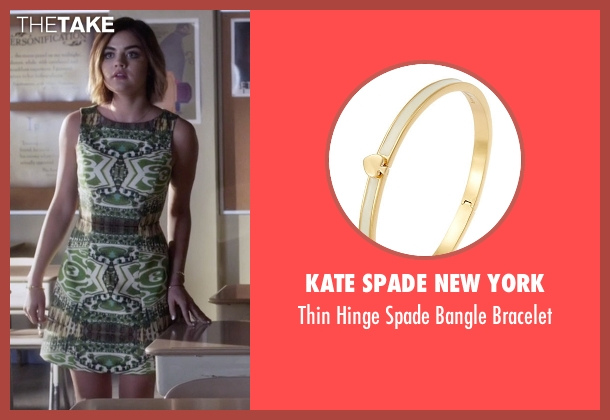 Kate Spade New York gold bracelet from Pretty Little Liars seen with Aria Montgomery (Lucy Hale)