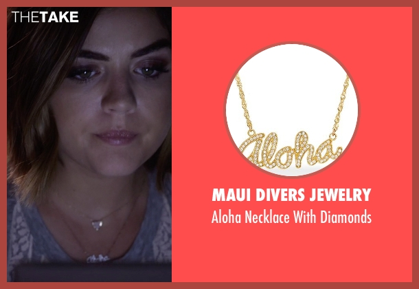 Maui Divers Jewelry gold diamonds from Pretty Little Liars seen with Aria Montgomery (Lucy Hale)