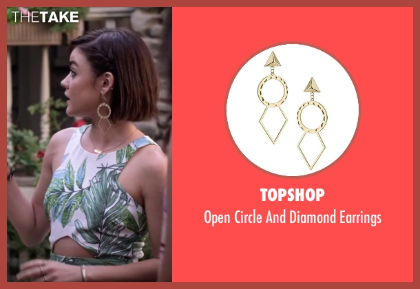 Topshop gold earrings from Pretty Little Liars seen with Aria Montgomery (Lucy Hale)