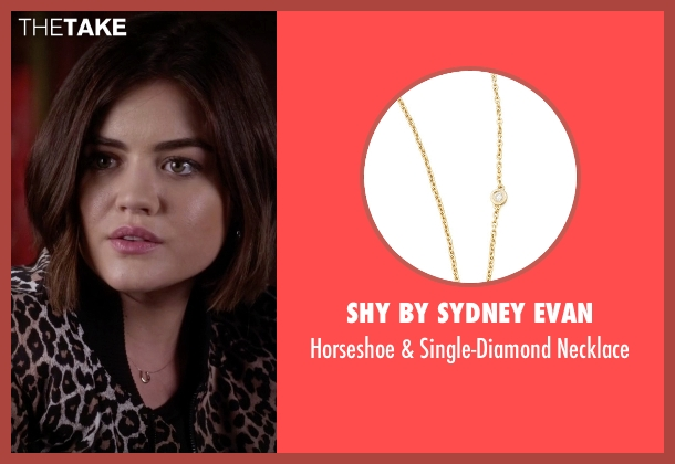SHY by Sydney Evan gold necklace from Pretty Little Liars seen with Aria Montgomery (Lucy Hale)