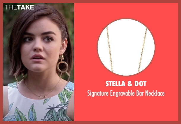 Stella & Dot gold necklace from Pretty Little Liars seen with Aria Montgomery (Lucy Hale)