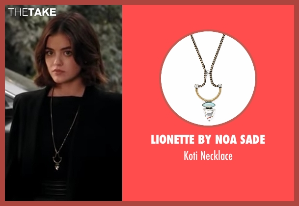 Lionette By Noa Sade gold necklace from Pretty Little Liars seen with Aria Montgomery (Lucy Hale)