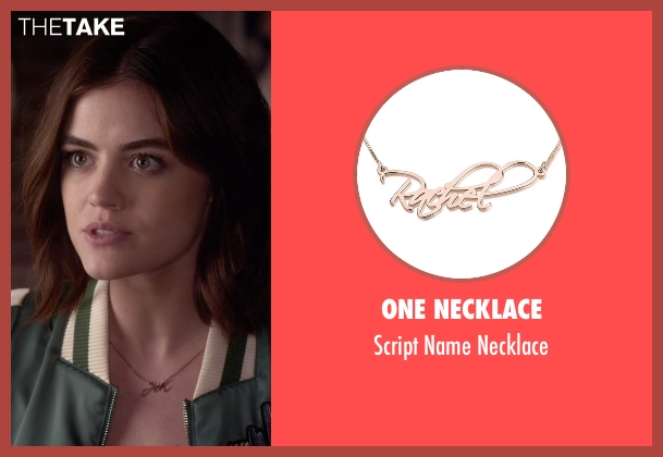 One Necklace gold necklace from Pretty Little Liars seen with Aria Montgomery (Lucy Hale)