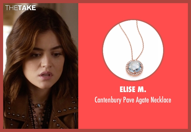 Elise M. gold necklace from Pretty Little Liars seen with Aria Montgomery (Lucy Hale)