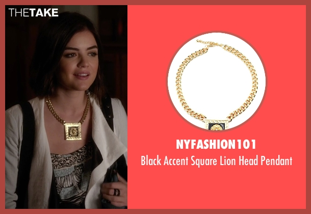 NYfashion101 gold pendant from Pretty Little Liars seen with Aria Montgomery (Lucy Hale)