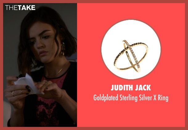 Judith Jack gold ring from Pretty Little Liars seen with Aria Montgomery (Lucy Hale)