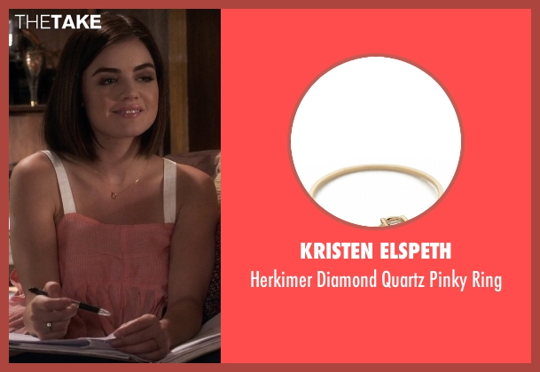 Kristen Elspeth gold ring from Pretty Little Liars seen with Aria Montgomery (Lucy Hale)