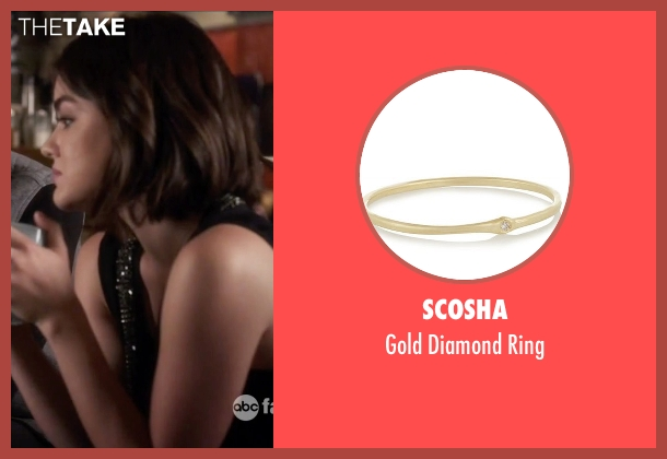Scosha gold ring from Pretty Little Liars seen with Aria Montgomery (Lucy Hale)