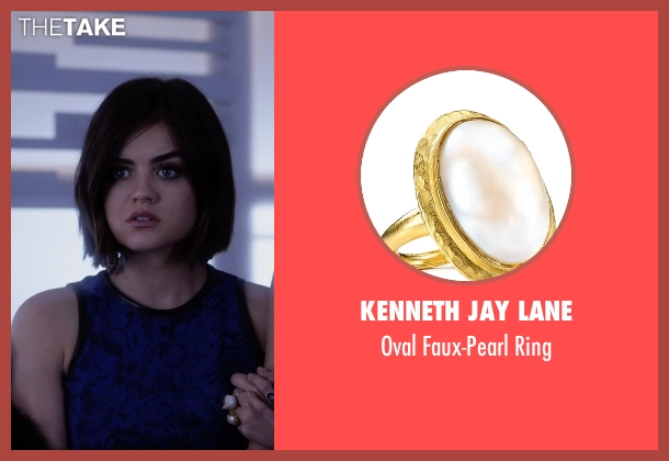 Kenneth Jay Lane gold ring from Pretty Little Liars seen with Aria Montgomery (Lucy Hale)